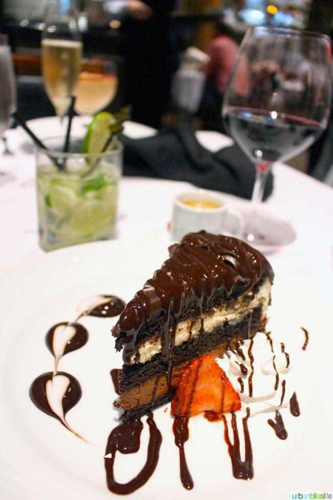 Fogo de Chao Portland Oregon restaurant cake