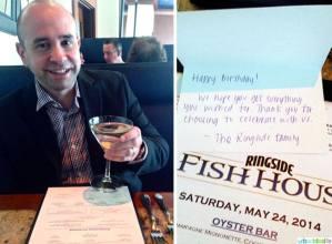 Ringside Fish House Portland, Oregon restaurant birthday