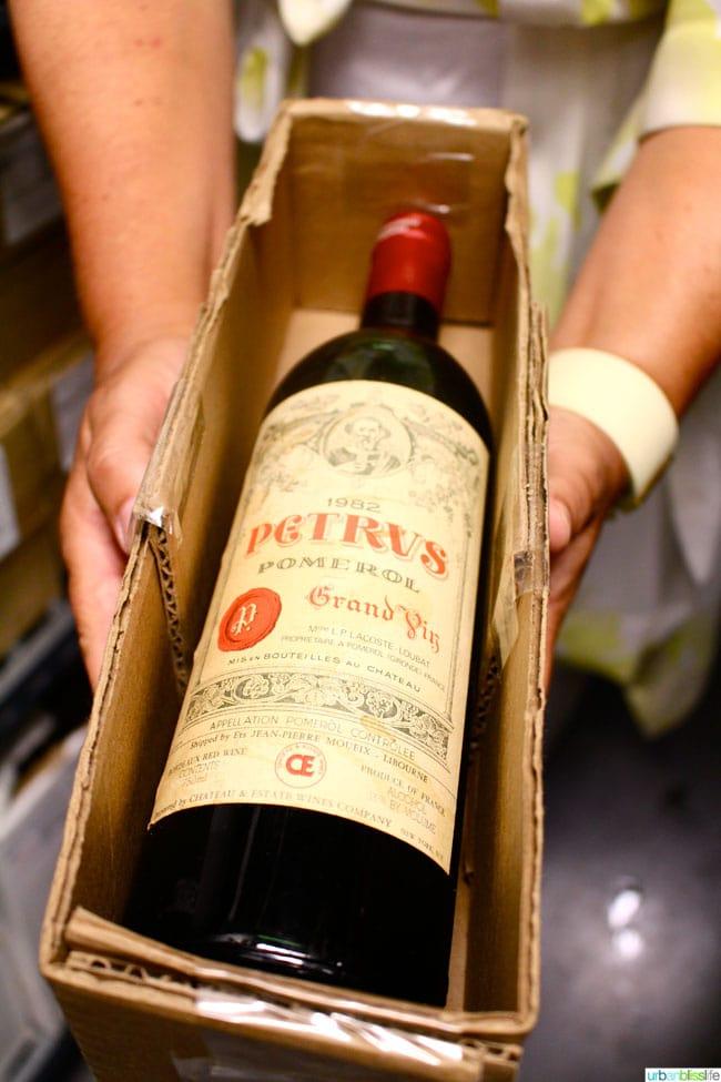 Ringside Steakhouse 10K bottle of wine