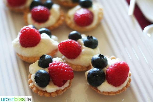 Fourth of July Tartlets recipe   UrbanBlissLife.com