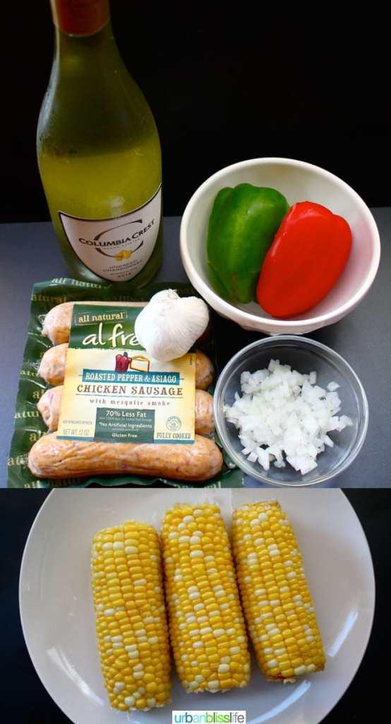 Chicken-Sausage-Peppers-Pasta-Ingredients