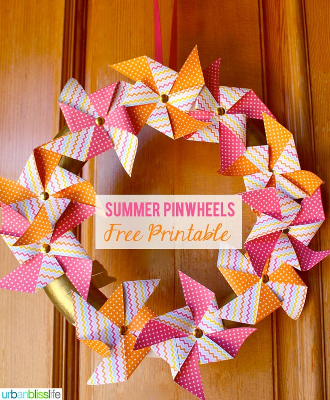 Summer Pinwheel Printables by Urban Bliss