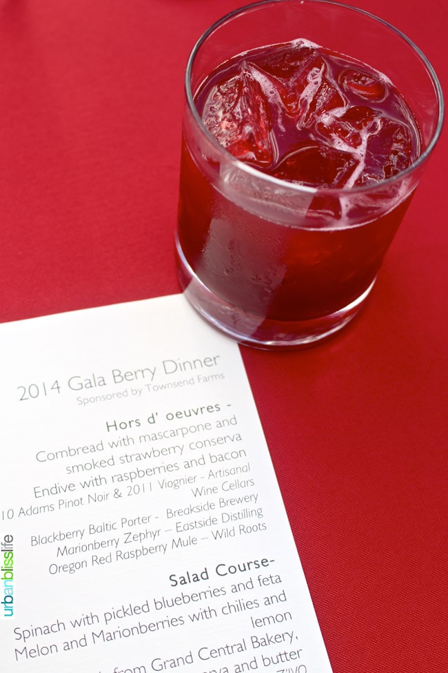 Celebrate Oregon Berries, Part 3 of 3: Gala Berry Dinner