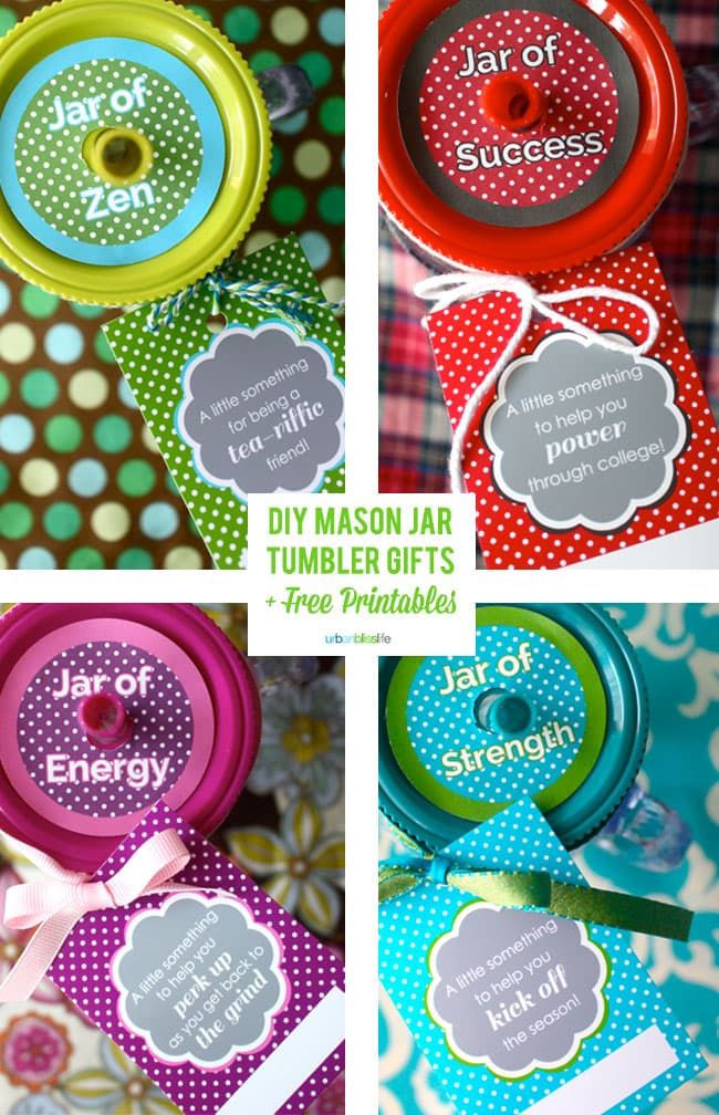 Back-to-School Mason Tumbler Jar Gifts + Free Printables
