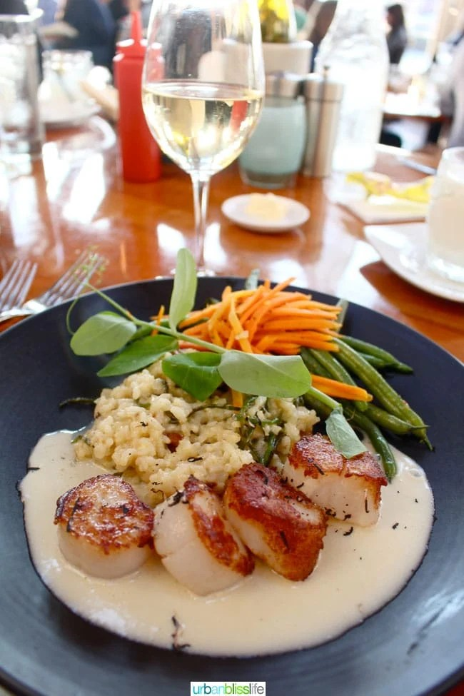 Bridgewater Bistro scallops  - travel bliss: Astoria, Oregon on UrbanBlissLife.com