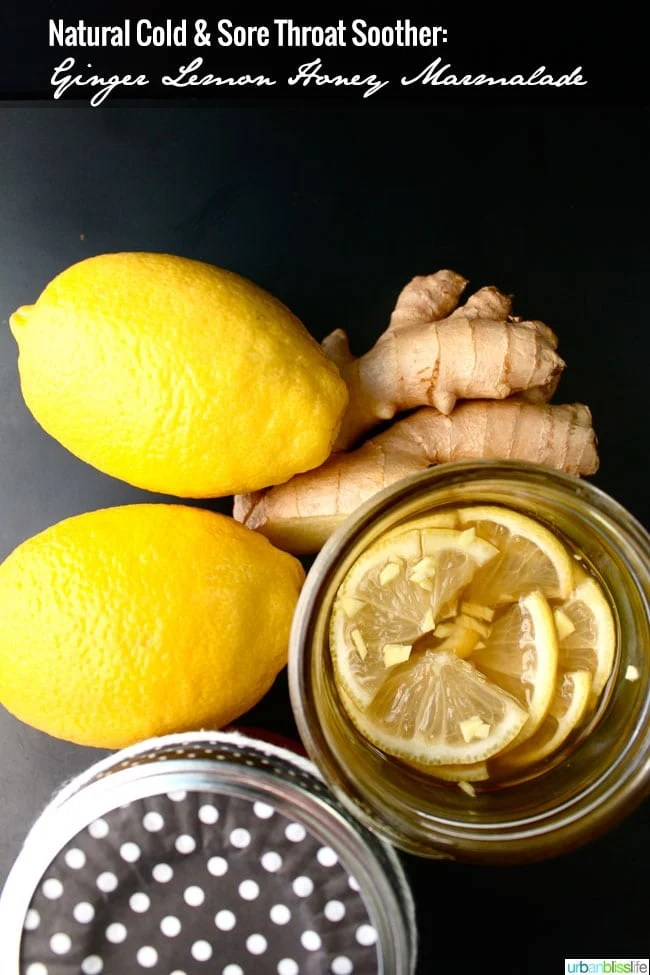 Cold & Sore Throat Soother: Ginger Lemon Honey Marmalade