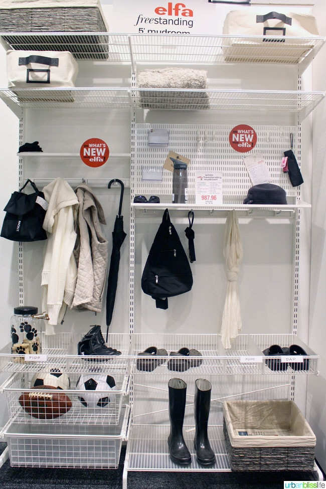elfa closet system at The Container Store