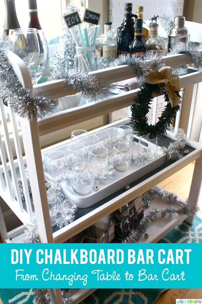 DIY Changing Table to Chalkboard Bar Cart & Colorhouse Paint Giveaway