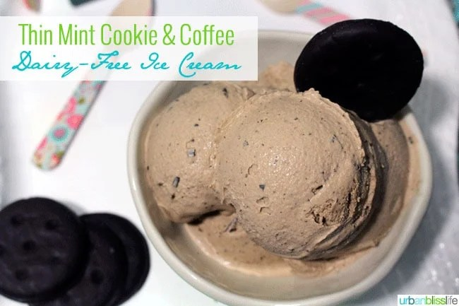 Thin Mint Cookie Coffee Dairy Free Ice Cream ©UrbanBliss