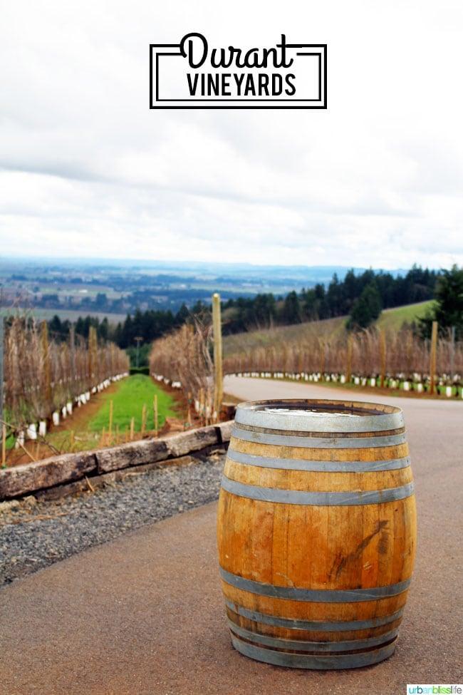 Durant Vineyards Oregon wine