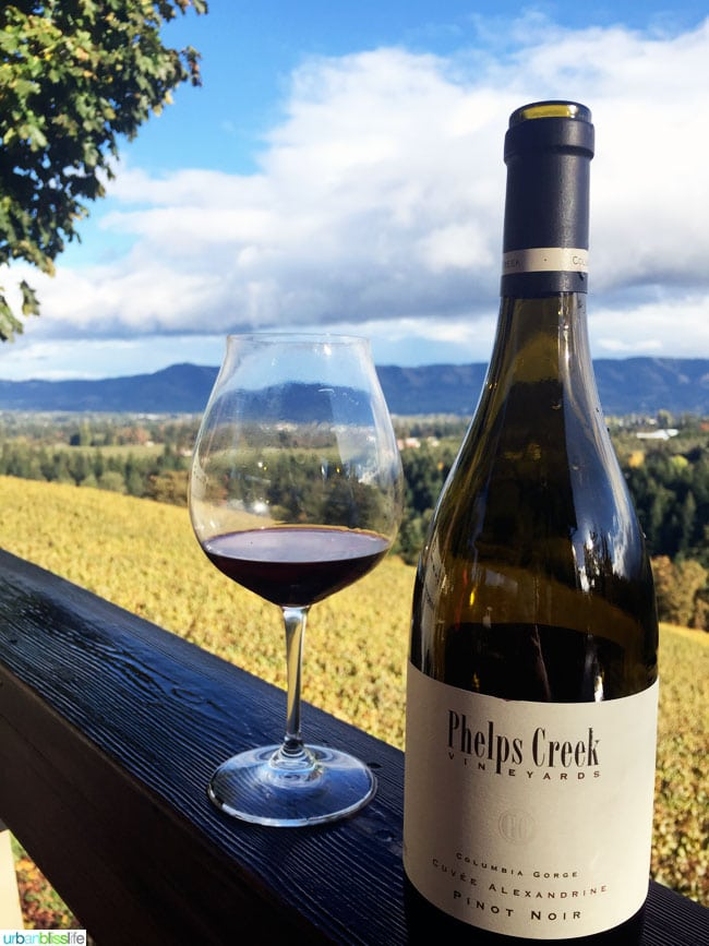 Phelps Creek Vineyards Oregon wine