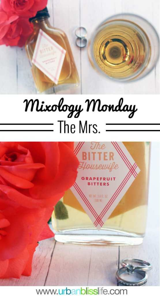 Mixology Monday: The Mrs. cocktail recipe on UrbanBlissLife.com