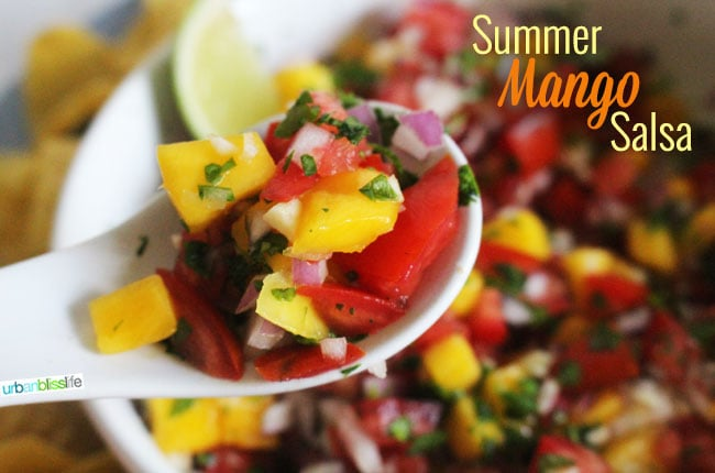 Summer Mango Salsa Recipe on UrbanBlissLife.com