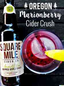 Oregon Marionberry Cider Crush cocktail recipe on UrbanBlissLife.com