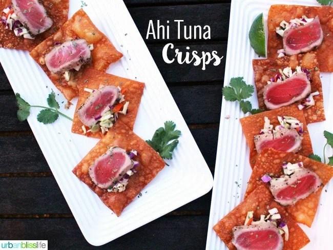 Ahi Tuna Crisps recipe on UrbanBlissLife.com