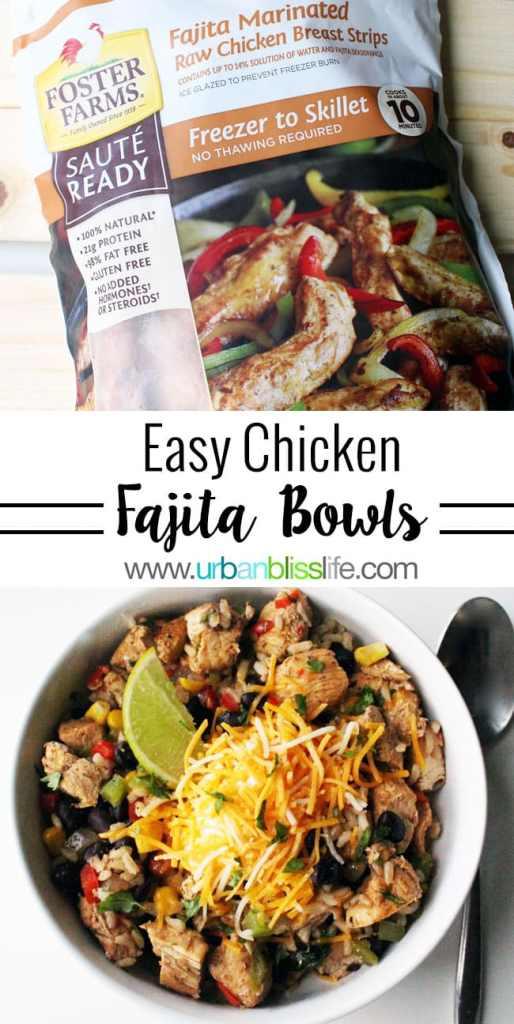 Food Bliss: Easy Chicken Fajita Bowls