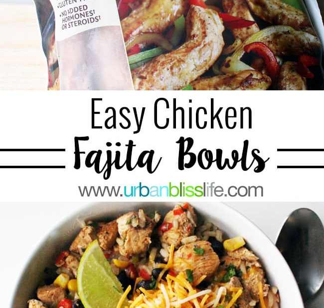 Chicken Fajita Bowls recipe on UrbanBlissLife.com