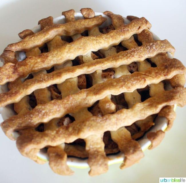 Mini Apple Pies recipe on UrbanBlissLife.com