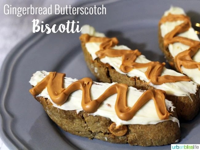 Food Bliss: Gingerbread Butterscotch Biscotti