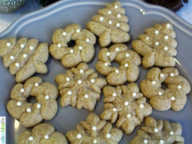 Cinnamon Spritz Cookies recipe on UrbanBlissLife.com