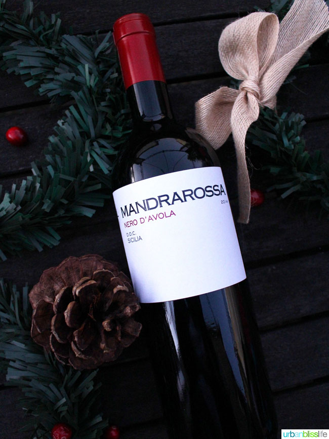 Top holiday wines: Mandrarossa Nero D'Avola on UrbanBlissLife.com