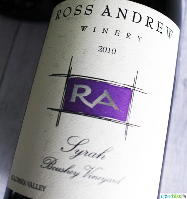 Top holiday wines: Ross Andrw Winery Syrah on UrbanBlissLife.com