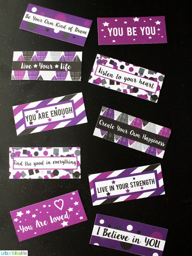 New Year's Positive Affirmation Wishes Printables by UrbanBlissLife.com