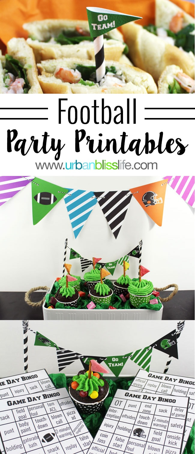 Game Day Party Printables on UrbanBlissLife.com