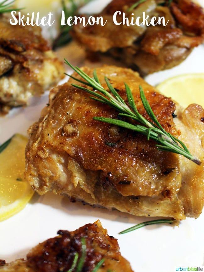 Easy Skillet Lemon Chicken recipe on UrbanBlissLife.com
