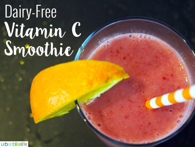 Dairy-Free Vitamin C Smoothie recipe on UrbanBlissLife.com