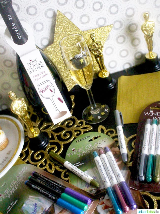 Wine + Giveaway Bliss: Oscar Party Ideas with Wine Glass Writer