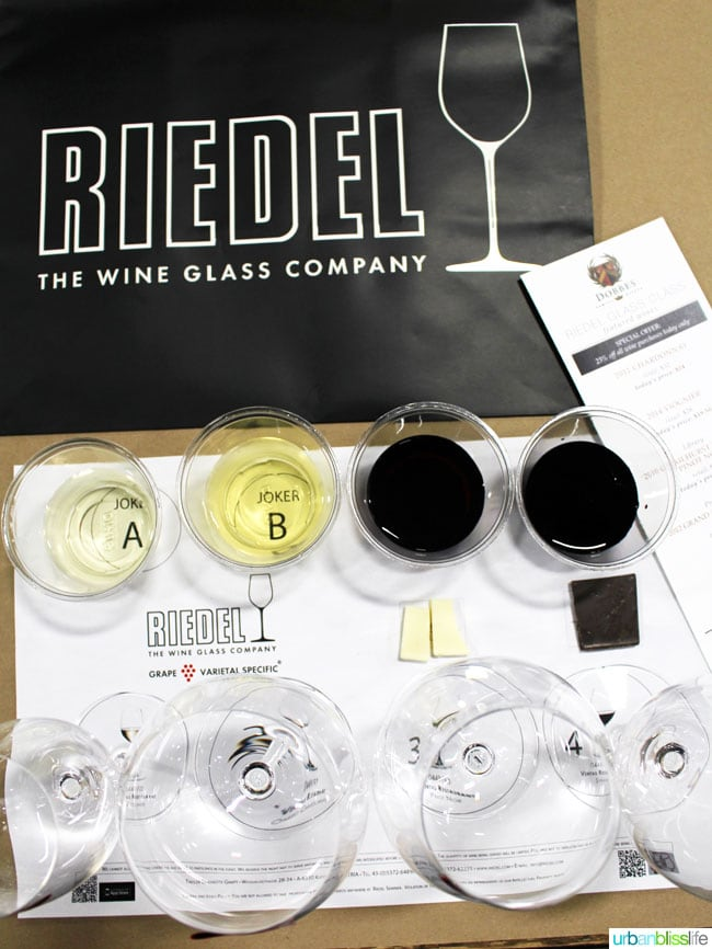 Wine Bliss: Dobbes Family Estate & Riedel Wine Glass Class