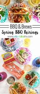 Spring BBQ and Beer Pairings and delicious hot dog toppings on UrbanBlissLife.com