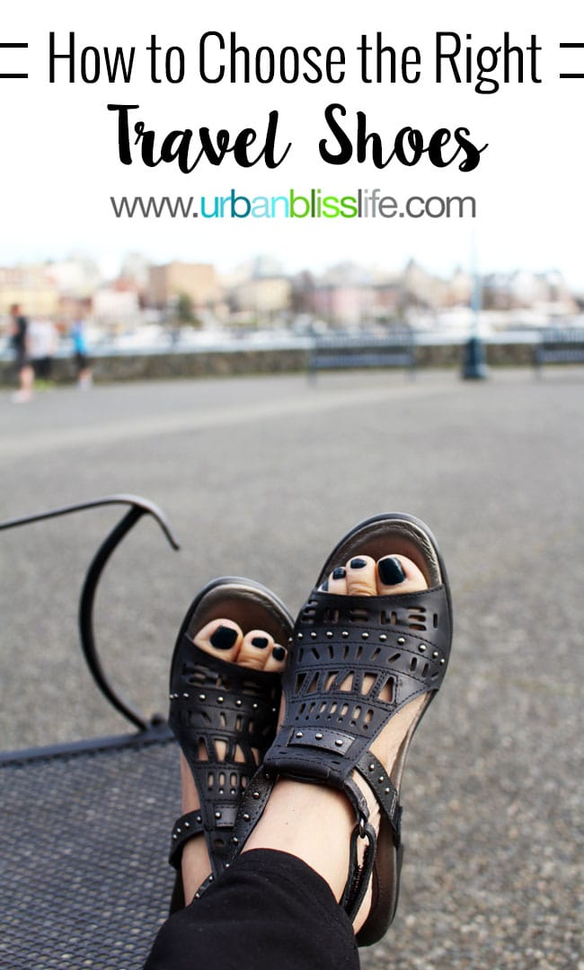 How to Choose the Right Travel Shoes on UrbanBlissLife.com