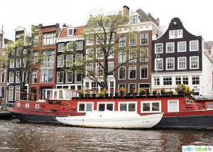 Amsterdam Red Canal Boat