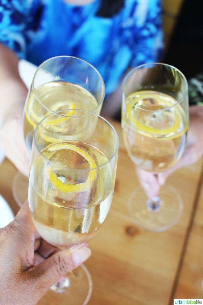 Magic Flute cocktail at Nel Centro restaurant, on UrbanBlissLife.com
