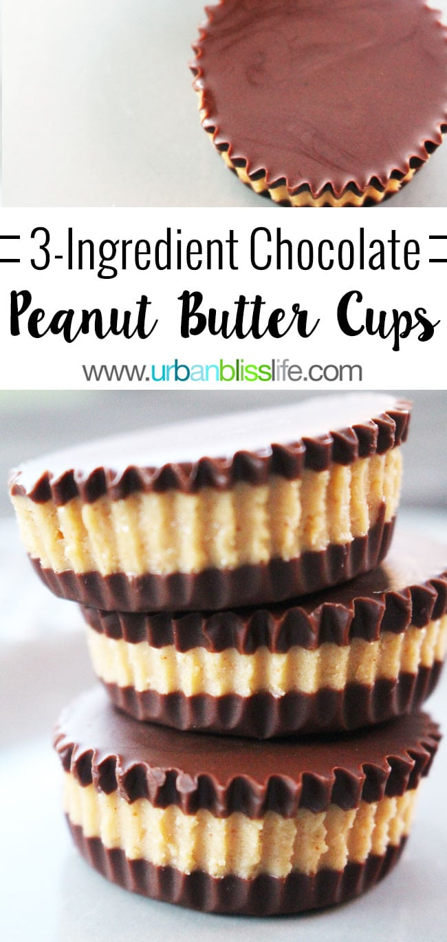 Easy Homemade Chocolate Peanut Butter Cups on UrbanBlissLife.com