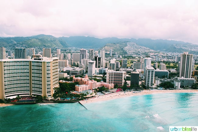 Helicopter Ride over Oahu Island, Hawaii. Amazing scenic photos on UrbanBlissLife.com