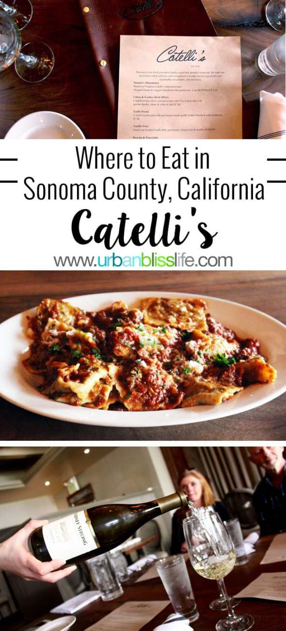 Travel + Food Bliss: Catelli's in Sonoma County, California