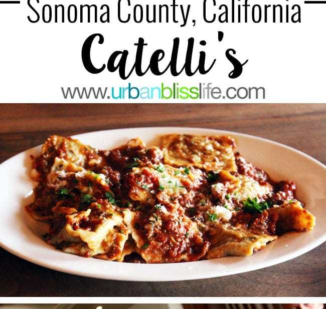 Catelli's restaurant in Sonoma County, California wine country, restaurant review on UrbanBlissLife.com