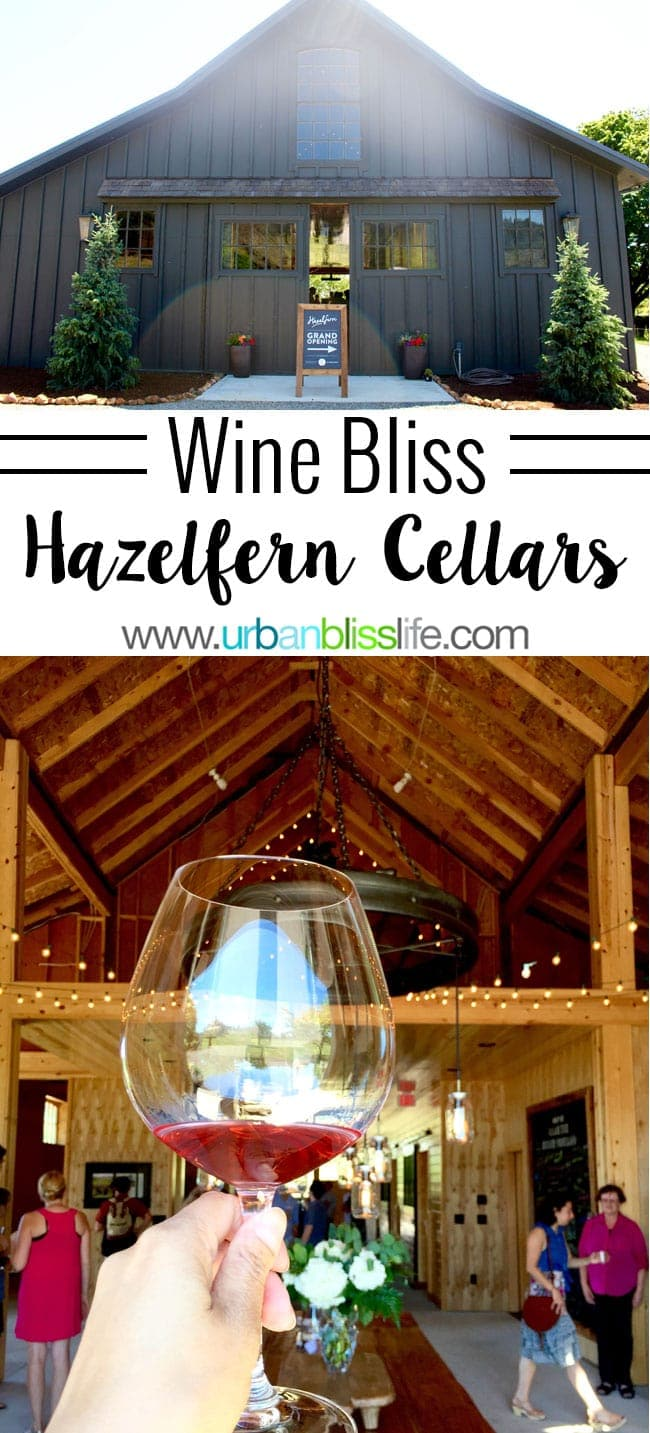 Hazelfern Cellars is a new, family-owned winery with amazing Syrah, Pinot Noir, and Rosé in Oregon Wine Country - details on UrbanBlissLife.com