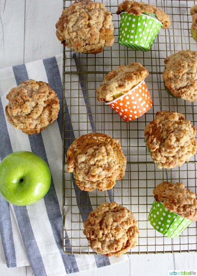 The BEST Apple Cinnamon Muffins (made healthier with carrots and zucchini!) recipe on UrbanBlissLife.com