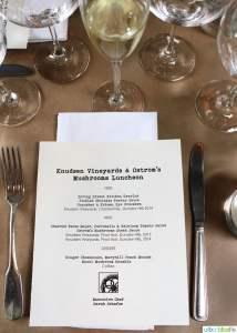 Wine and mushroom pairing luncheon in Portland, Oregon, featuring Knudsen Vineyards wines & Ostrom's Mushrooms, on UrbanBlissLife.com