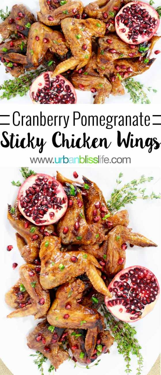 FOOD BLISS: Cranberry Pomegranate Sticky Chicken Wings