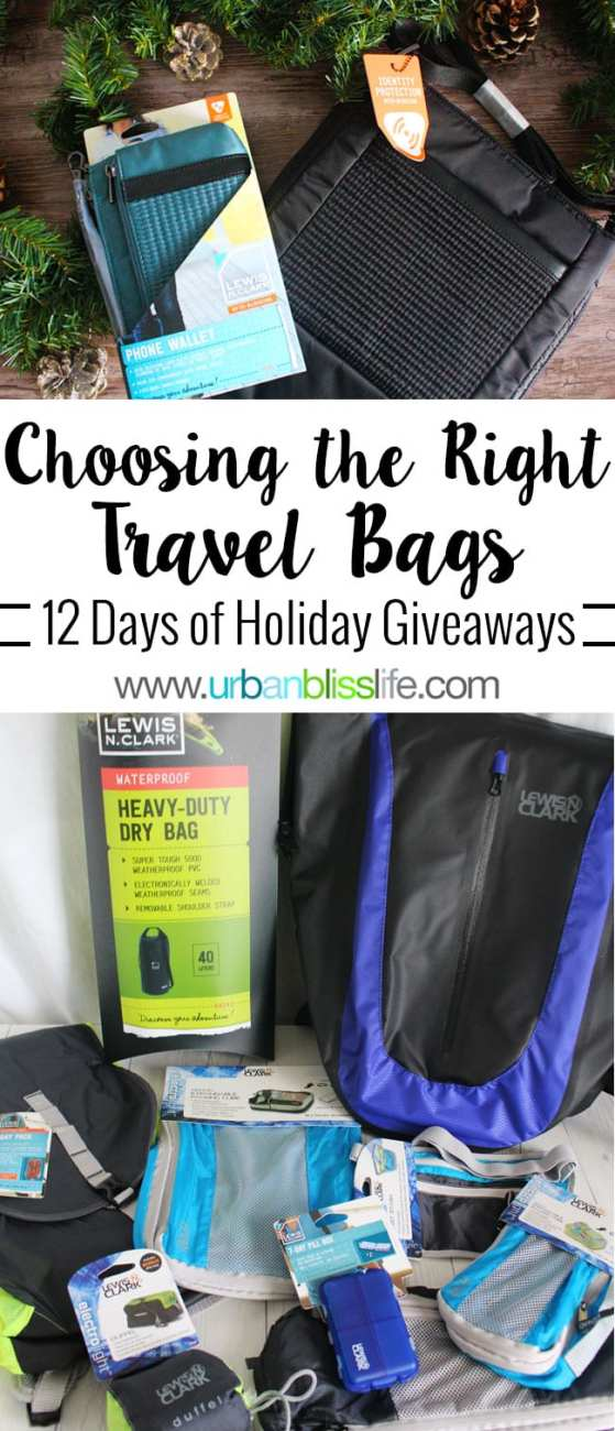 12 Days of Holiday Giveaways: LewisNClark Travel Bags and Accessories