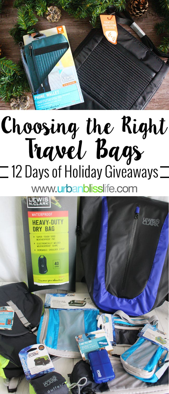 Choosing the Right Travel Bags on UrbanBlissLife.com