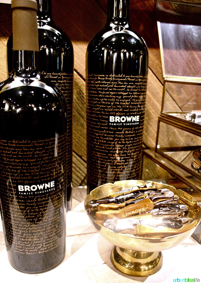 Browne Family Vineyards in Walla Walla, Washington, wine tasting room review on UrbanBlissLife.com