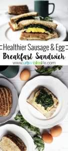 Healthier Sausage and Egg Breakfast Sandwich recipe on UrbanBlissLife.com