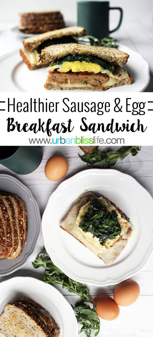 Food Bliss: Healthier Sausage and Egg Breakfast Sandwich