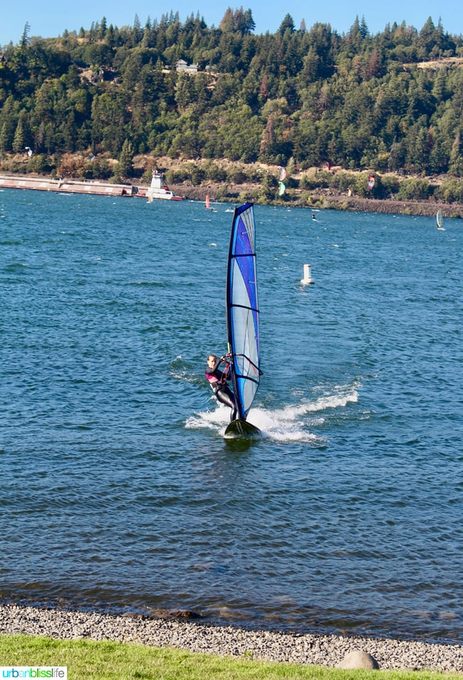 Windsurfing, Hood River Oregon travel tips on UrbanBlissLife.com